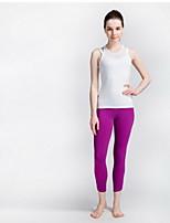 Yoga Pants Underdele Åndbart / Hurtigtørrende Justérbar Høj Elasticitet Sport Wear Grå / Lilla Dame SMOEDOD Yoga & Danse Sko