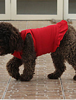 Dog Dress Red / Black / Gray Summer Solid Fashion-Lovoyager