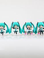 Vocaloid Hatsune Miku PVC One Size Anime Action Figures Model Toys Q Version 1Set 12cm