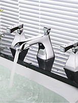 Shower Faucet / Bathtub Faucet / Bathroom Sink Faucet-Contemporary-Waterfall-Brass(Chrome)