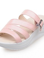 Women's Shoes Wedge Heel Wedges / Platform / Slippers Sandals Outdoor / Dress / Casual Blue / Pink / Beige