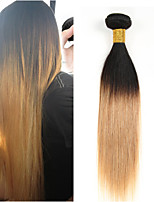 1PCS 12-24 inch Brazilian Straight Hair Ombre #1B27 Color Virgin Hair