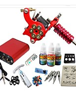 Basekey Tattoo Kit JH552 Gun Machine With Power Supply Grips 10ML Ink