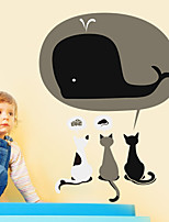 Wall Stickers Wall Decals Style Three Lovely Cats PVC Wall Stickers
