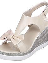 Women's Shoes Wedge Heel Platform / Open Toe Sandals Dress / Casual Blue / Pink / Beige
