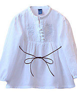 Girl's White Dress Cotton Spring / Fall