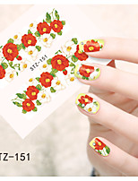 1pcs  Water Transfer Nail Art Stickers  Colorful Flower Nail Art Design STZ151-155