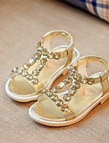 Girls' Shoes Dress / Casual Comfort Faux Leather Sandals Silver / Gold