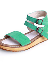 Girls' Shoes Casual Slingback / Gladiator / Round Toe / Open Toe Leather Sandals Brown / Green