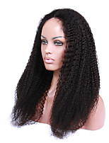Glueless Curly Human Hair Wigs Brazilian Kinky Curly Lace Front Wigs For Black Women 20-24inch instock