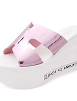 Women's Shoes Wedge Heel Open Toe Sandals Dress / Casual Black / Pink / White / Silver