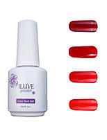 ILuve Gel Nail Polish Set - Pack Of 4 - Long Lasting 3 Weeks Soak Off UV Led Gel Varnish – For Nail Art #4044