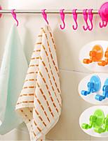 baño pared de la cocina que aspira percha bastidores ganchos ventosa de vacío suspensión de la toalla (color al azar)