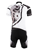 PaladinSport Men 's Cycyling Jersey + Shorts Bike Suits for DT617    machinery white