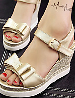 Women's Shoes Wedge Heel Wedges/Platform/Sling back/Open Toe Sandals Party & Evening/Dress Silver/Gold
