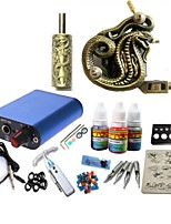 Tattoo Kit JH572 1 Machine With Power Supply Grips 3x10ML Ink