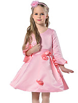 Girl's Pink Dress Cotton / Polyester Summer