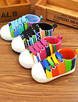 Baby Shoes Outdoor / Casual Canvas Fashion Sneakers Black / Blue / Fuchsia / Orange