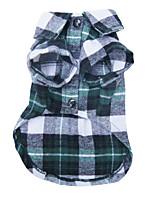 honden T-shirt / Hemd / Kleding / Kleding Rood / Groen / Blauw Zomer / Lente/Herfst Geruit Modieus-Lovoyager