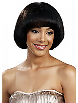BoBo Style Straight Hair European Weave Black Color Hair Synthetic Wig