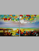 Colorful Sky Abstract Oil Painting Multi Piece Oil Painting With Stretcher