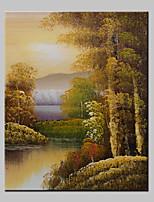 mini-formaat met de hand geschilderde landschap modern olieverf op doek één paneel klaar om op te hangen 20x25cm