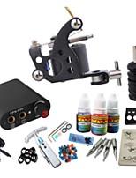 kit de tatouage basekey jh556 1 machine avec poignées d'alimentation 3x10ml encre