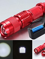 LS1777 SK68 Mini 2000LM 3 Mode CREE Q5 LED Zoomable Focusing Adjustable Flashlight Torch Light Lamp Kit