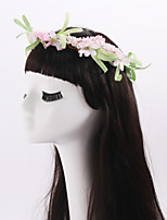 Women's / Flower Girl's Foam / Fabric Headpiece-Wedding / Special Occasion / Casual / Outdoor Wreaths 1 Piece