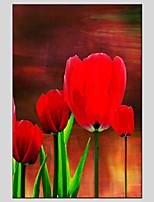 peintures à l'huile de matériel de toile de style de fleurs avec cadre tendu prêt à accrocher la taille 60 * 90cm