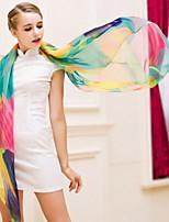 Female Summer Beach Towel Sunscreen Long Section Of Chiffon Scarf Shawl Korean Multicolored Scarves