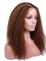 cabelo humano cacheado 8 a 12 polegadas Kinky perucas perucas frente brasileiros excêntricas encaracolados glueless rendas para as