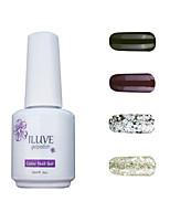 ILuve Gel Nail Polish Set - Pack Of 4 - Long Lasting 3 Weeks Soak Off UV Led Gel Varnish – For Nail Art #4058