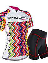 NUCKILY Summer Female Short-Sleeved Jersey Suit Riding Pants Version Of The Tour De France Team