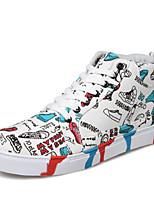 Zapatos de Hombre-Sneakers a la Moda-Exterior / Casual-Tela-Azul / Blanco
