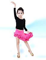 Latin Dance Children's Performance Cotton / Spandex 2 Pieces Outfits
