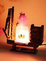 Creative Wood Drift Bottle Light  Sailing Lamp Decoration Desk Lamp Bedroom Lamp Gift for Kid(Assorted Color)