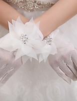 Wrist Length Fingertips Glove Tulle Bridal Gloves / Party/ Evening Gloves
