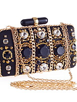 Women PU Baguette Clutch / Evening Bag / Wallet / Coin Purse-Black