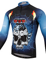 XINTOWN Skull Style Bike Team Cycling Suits Long Jersey Long Sleeve