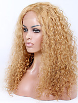 Afordable Glueless or Full Lace Front Wigs Beach Messy Curly  8A Indian Virgin Remy Human Hair Wigs for Women