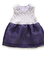Girl's Purple Dress Cotton Summer