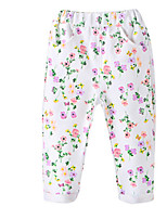 Girl's White Pants Cotton Spring / Fall