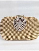 L.WEST® Women's Handmade High-grade Heart-shaped Diamonds Party/Evening Bag