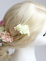 Women's Fabric Headpiece - Wedding / Special Occasion / Casual / Outdoor Flowers 1 Piece