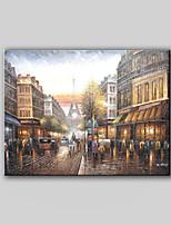 toile peinte à la main peinture à l'huile paysage scène de rue de rue de paris sans cadre