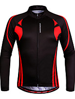 WOSAWE Men's Cycling Jerseys Clothing Bicycle Ciclismo Long Sleeve Tops Bike Jacket Breathable T-shirts New