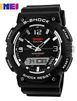 Sports Watch Men's / Ladies' / Kids' LCD / Calendar / Chronograph / Water Resistant / Dual Time Zones / Noctilucent / Stopwatch Digital