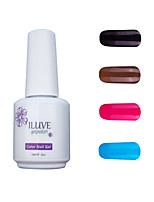 ILuve Gel Nail Polish Set - Pack Of 4 - Long Lasting 3 Weeks Soak Off UV Led Gel Varnish – For Nail Art #4052