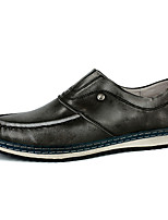 Men's Shoes Outdoor / Office & Career / Casual Nappa Leather Loafers Blue / Gray / Burgundy